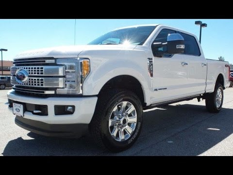 2017 FORD F 250 SUPERDUTY PLATINUM POWERSTROKE DIESEL