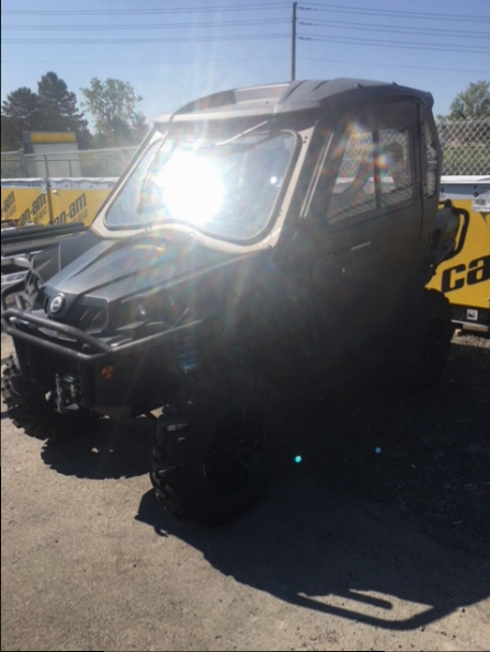 2016 CAN AM COMMANDER 1000 XT WITH FULL HEATED CAB