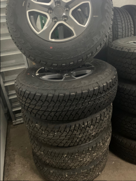 2018 JEEP 17 INCH WRANGLER WHEELS N TIRES (5) Photo 1