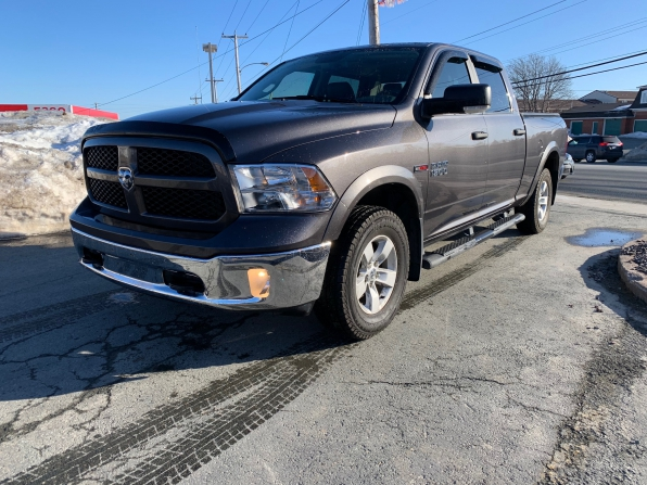 2018 RAM 1500 CREW CAB 4WD OUTDOORSMAN ECO DIESEL W 6.4 FT BED